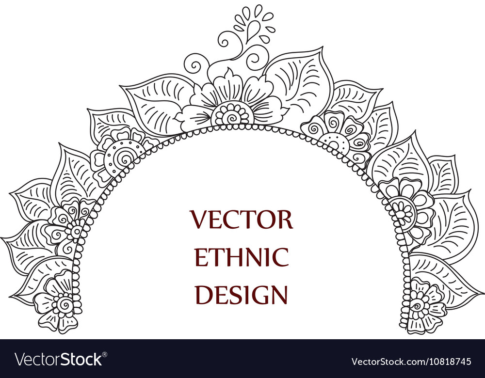Tattoo henna pattern vector