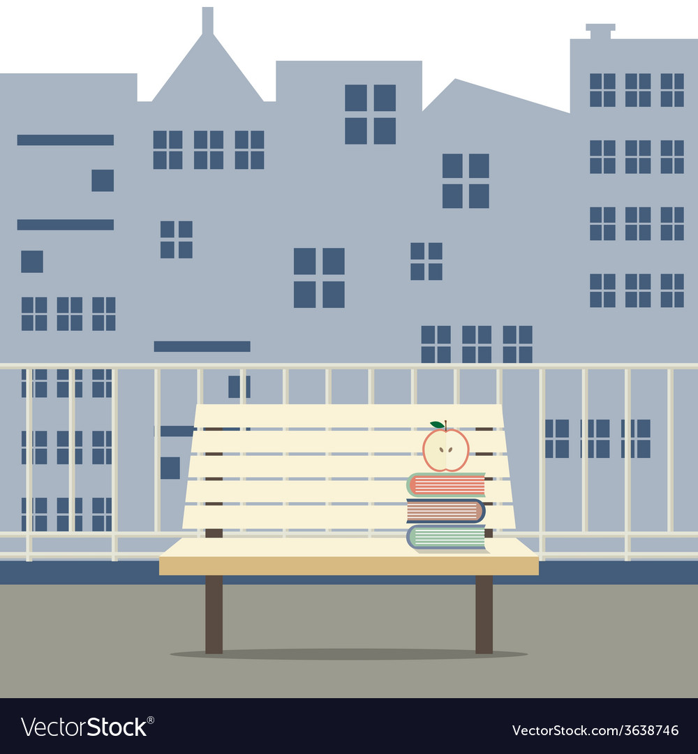 Empty wooden chair at balcony vector