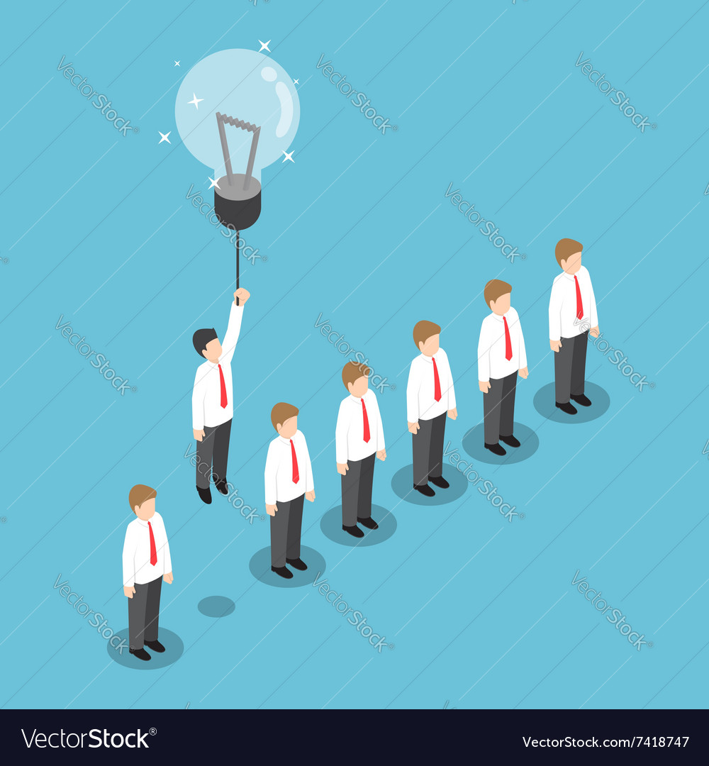 Businessman flying out from the crowd vector