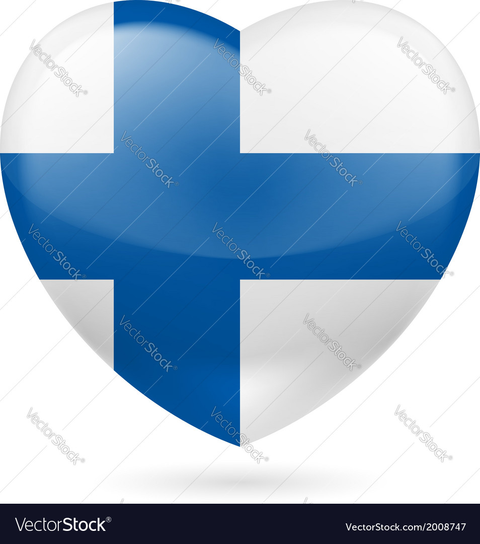 Heart icon of finland vector