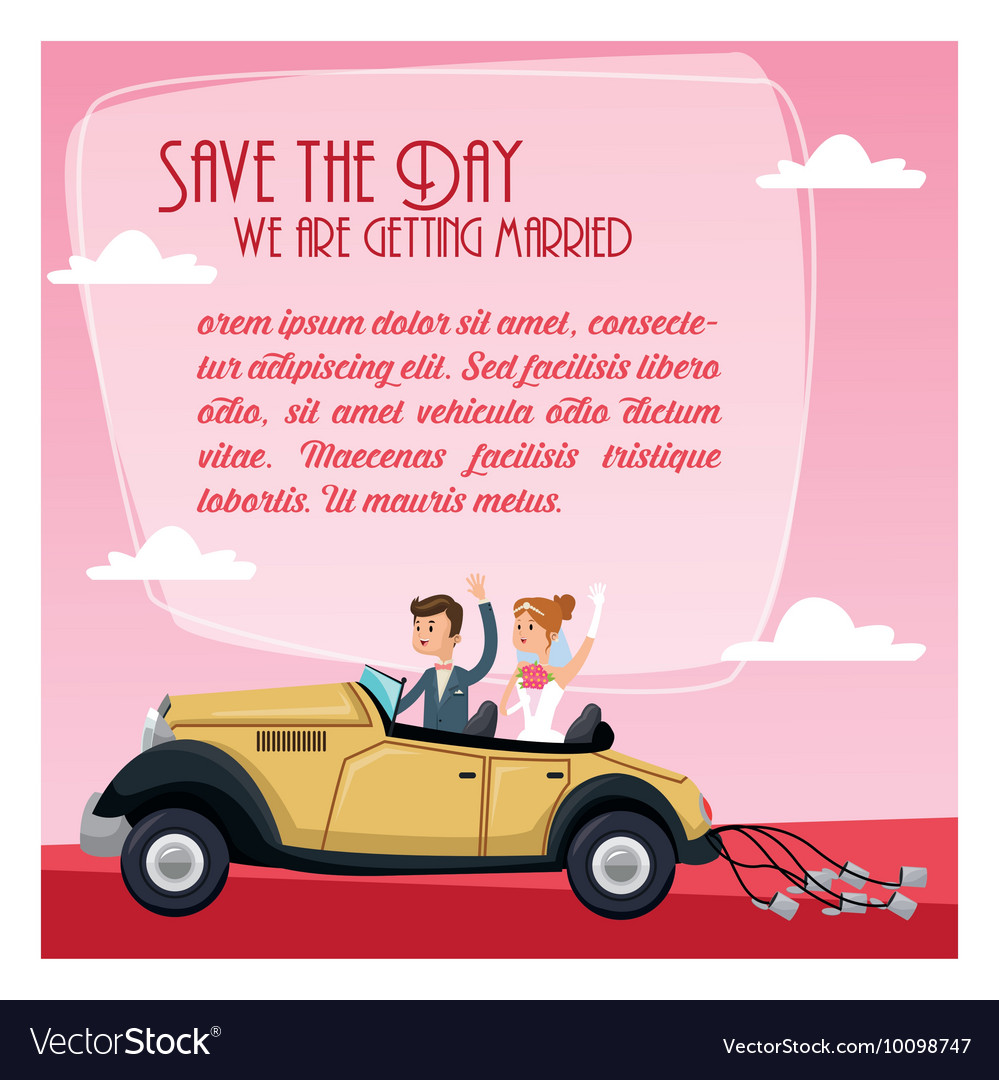 Save the date wedding icon graphic vector