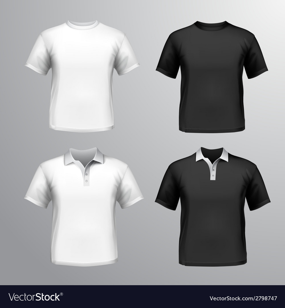 Tshirts male set vector