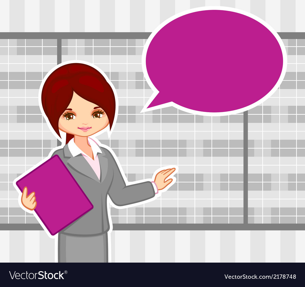 Girl at office vector