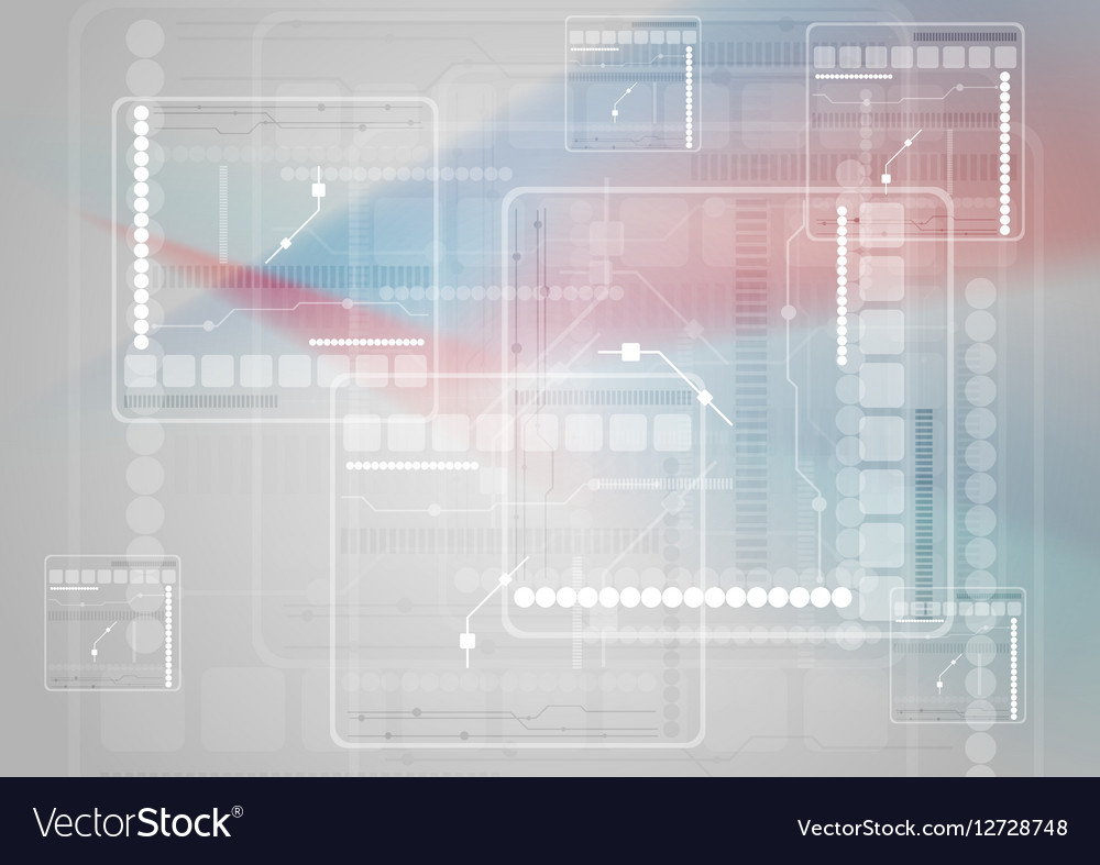 Scifi blue red abstract technology background vector