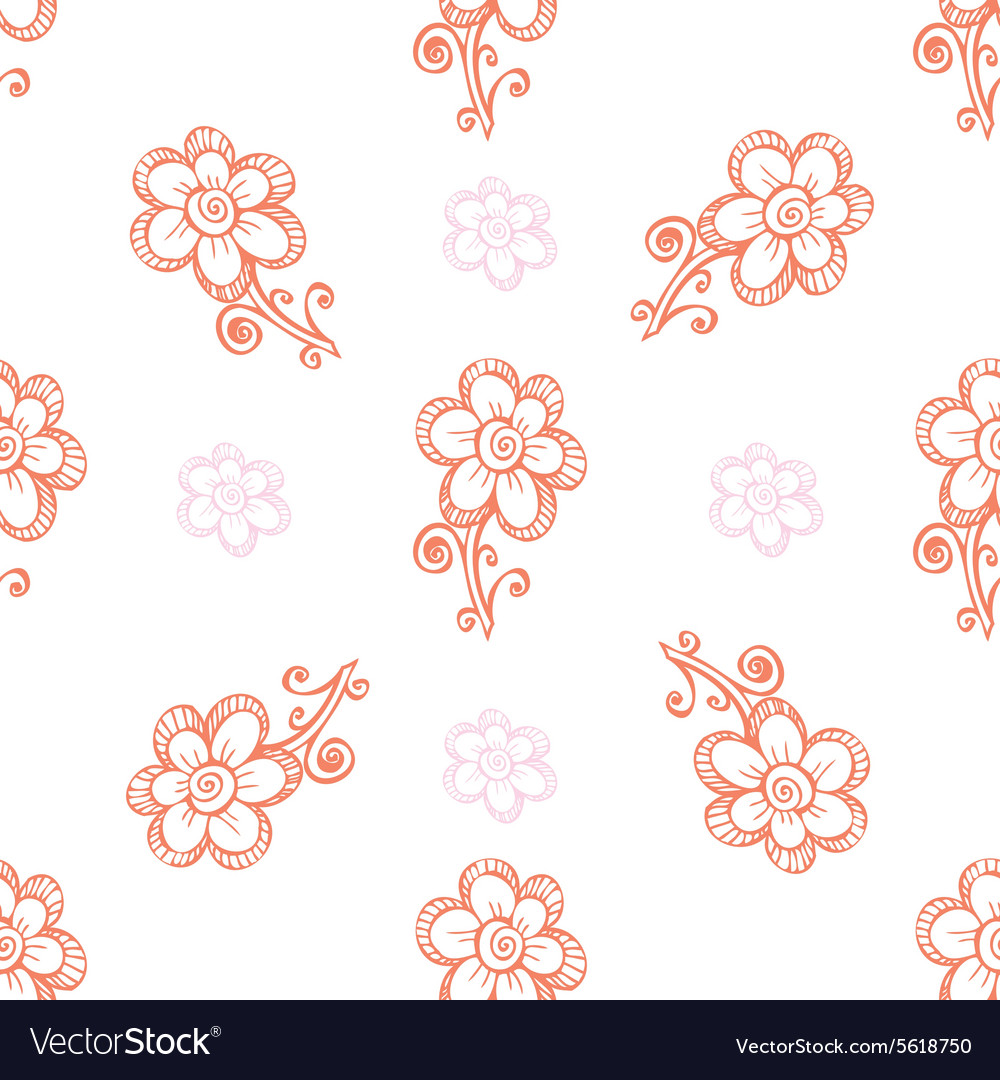 Seamless pattern with beautiful flowers vector