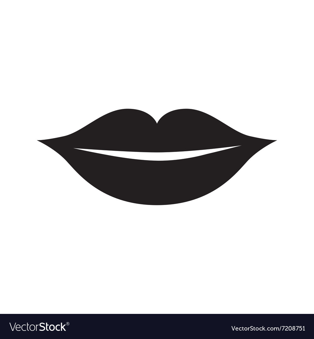 Lips icon isolated vector
