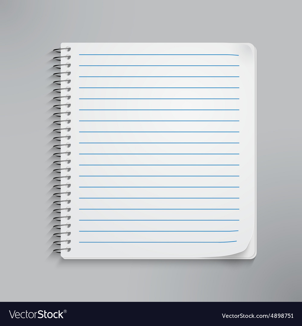Realistic spiral notebook vector