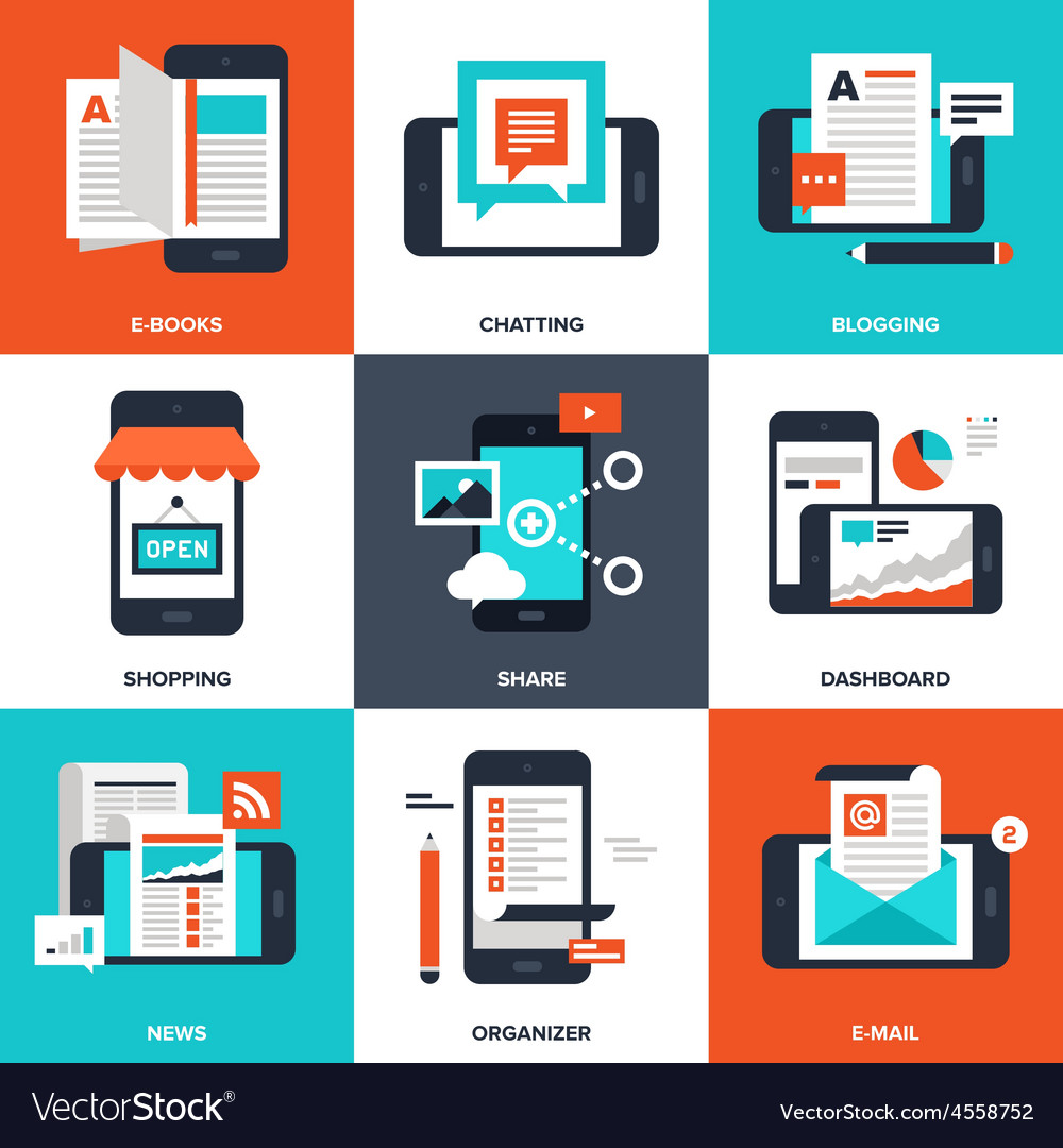 Mobile applications vector
