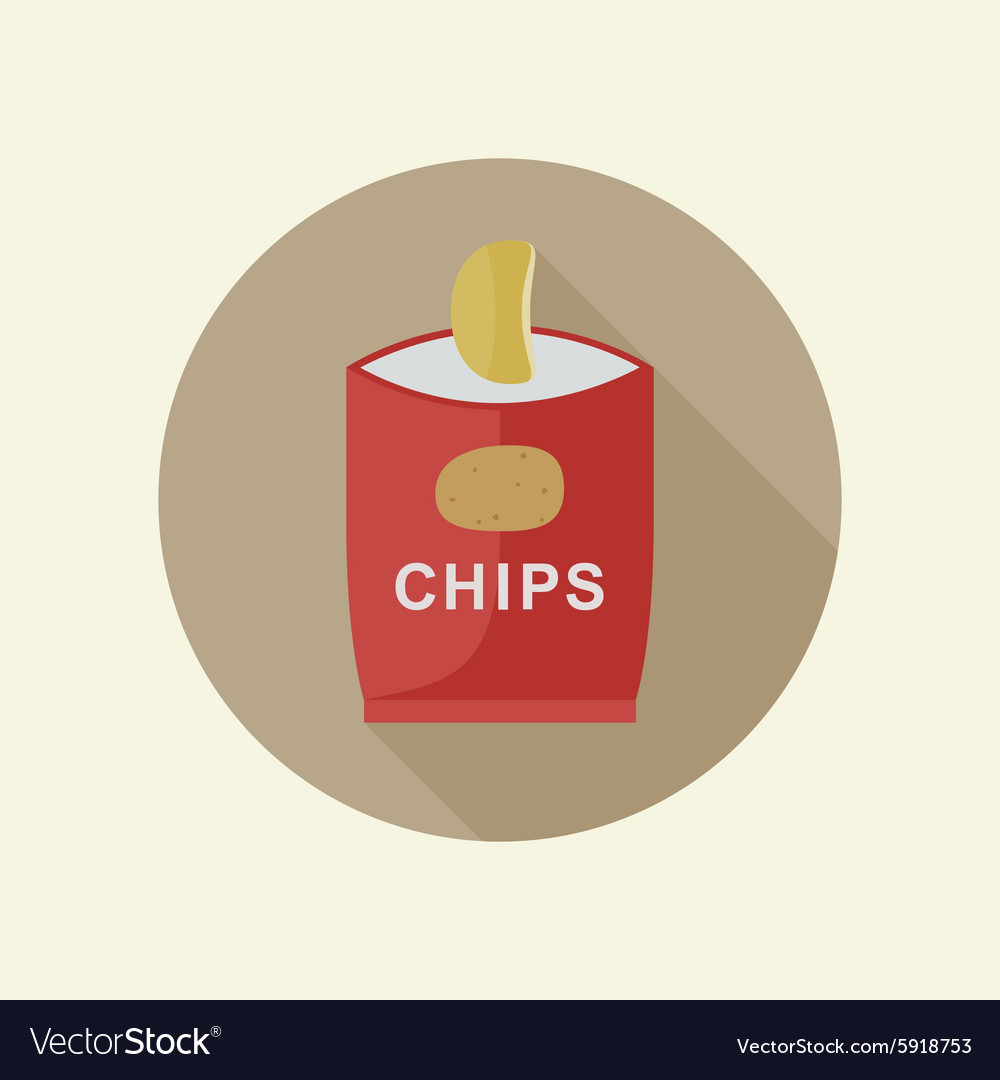 Potato chips icon vector
