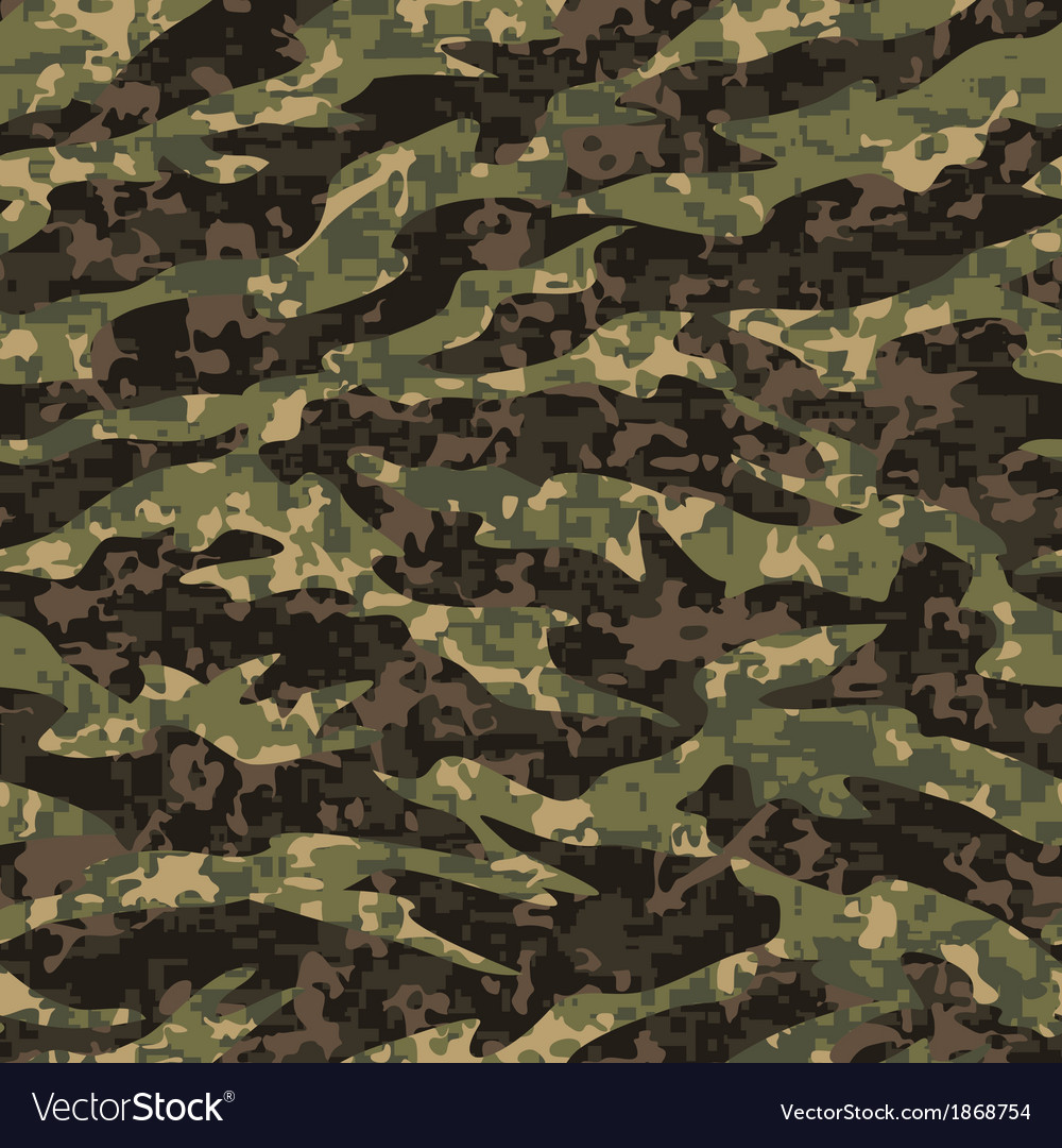 Digital tiger camo vector