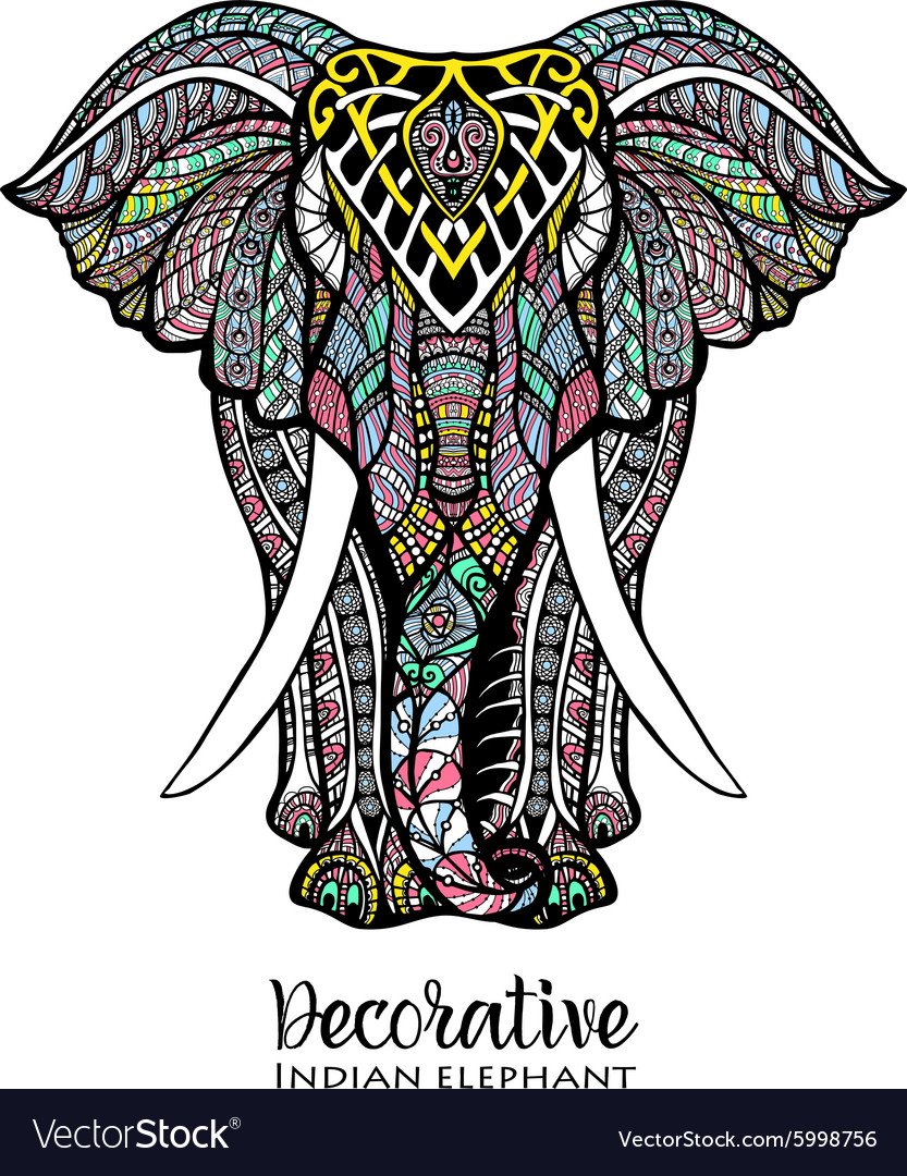 Elephant colored vector
