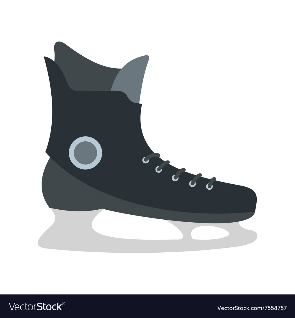 Ice skate flat icon vector
