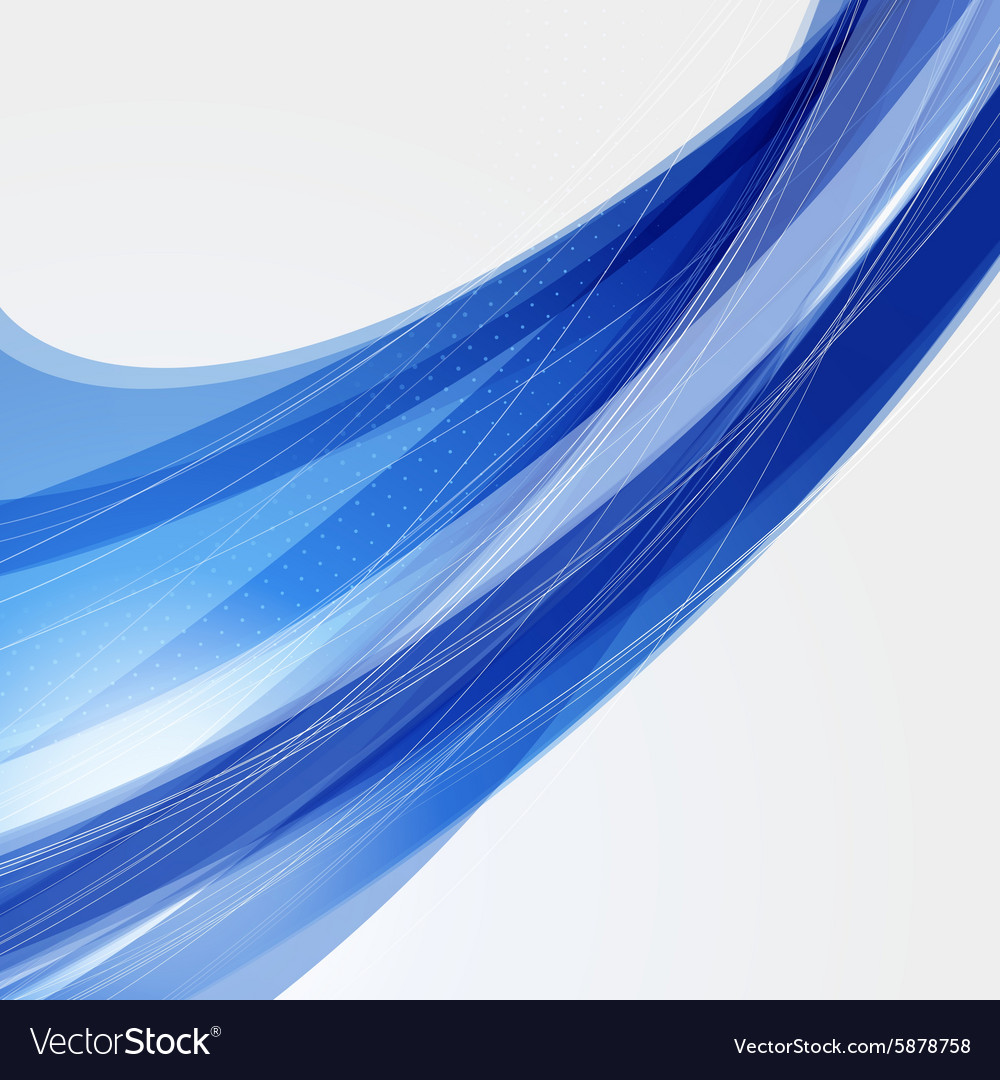 Abstract blue futuristic wave background eps10 vector
