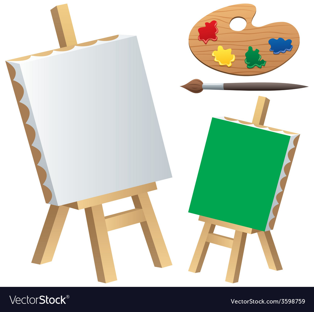 Painting accessories vector