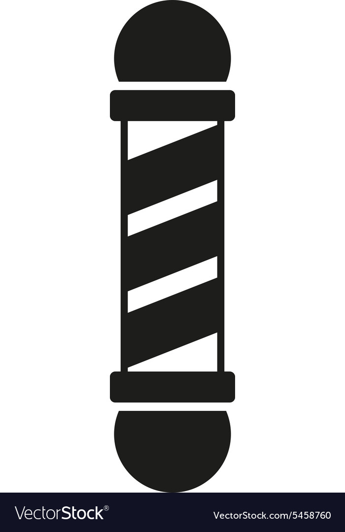 Barber pole icon barbershop symbol flat vector