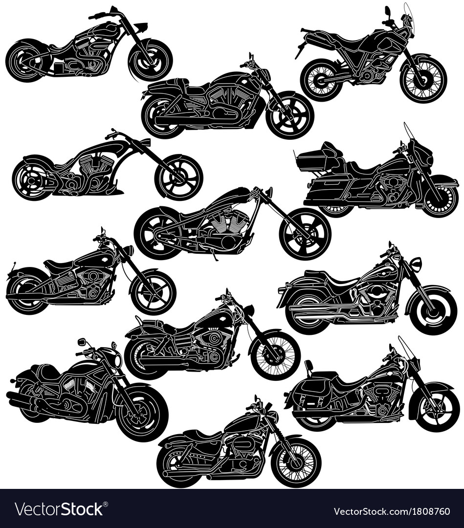 Motorcycle package  detailed vector