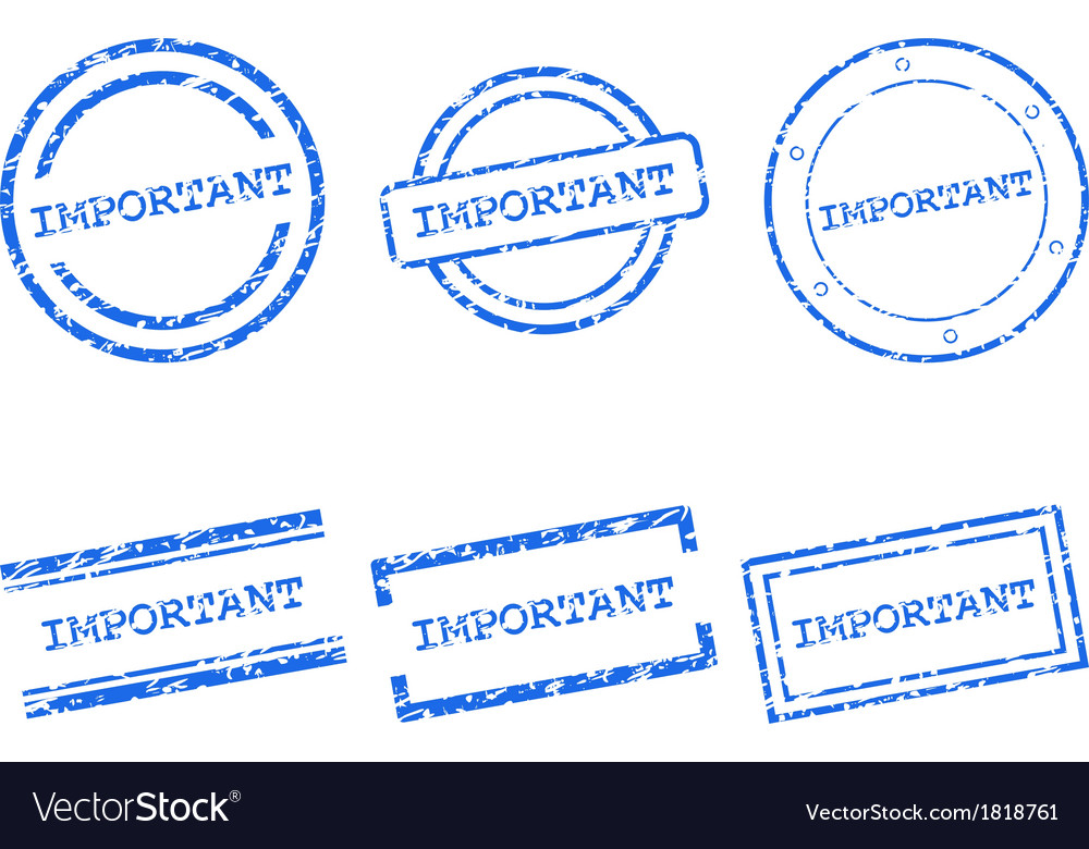 Important stamps vector