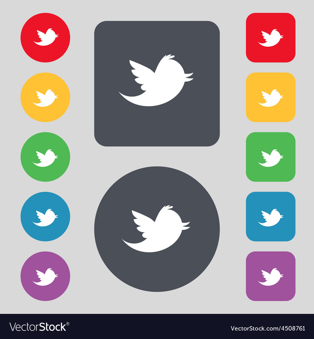 Social media messages twitter retweet icon sign a vector