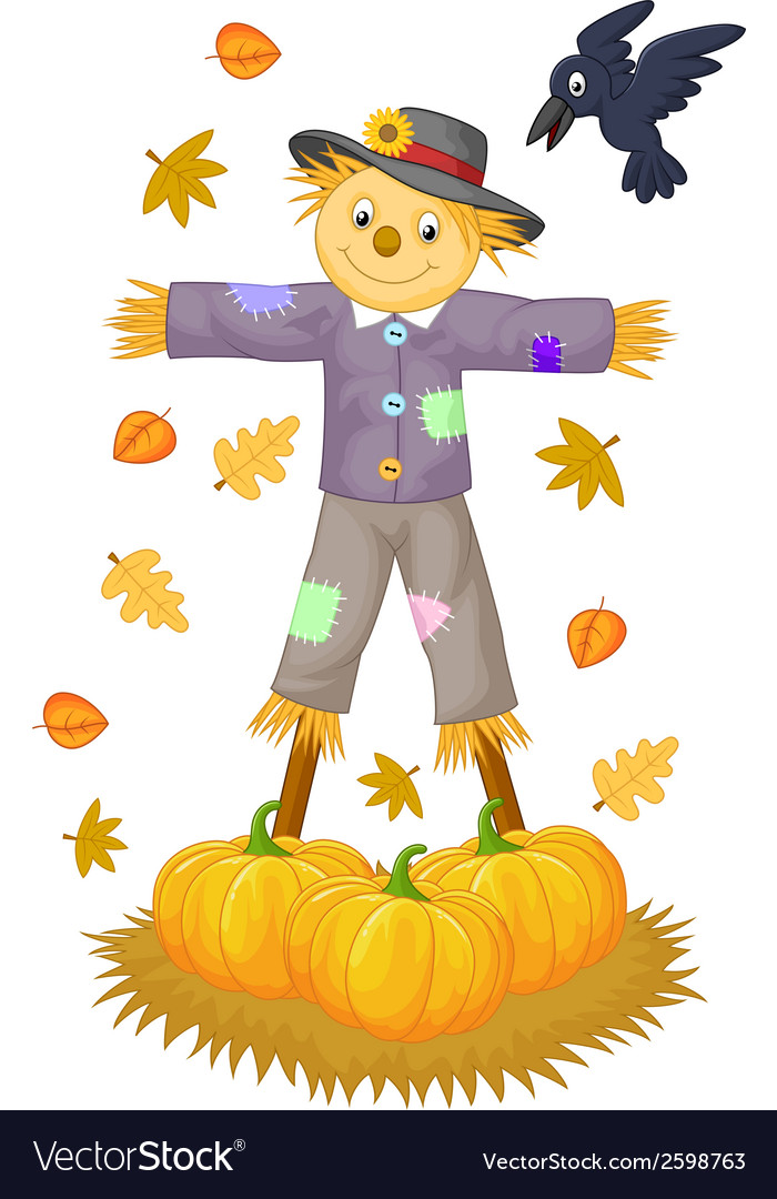 Scarecrow cartoon vector