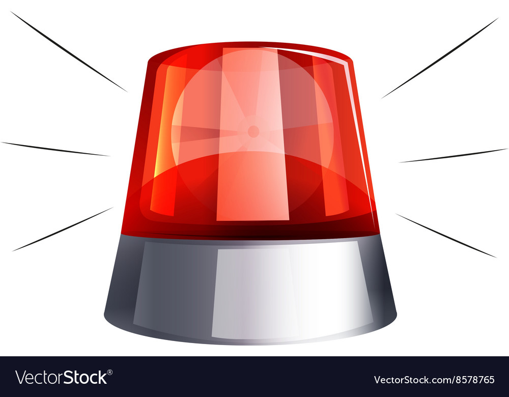 Siren light on white background vector