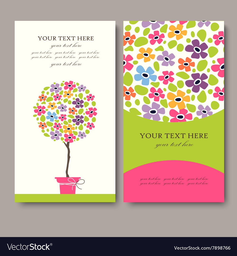Business card set eps10 vector