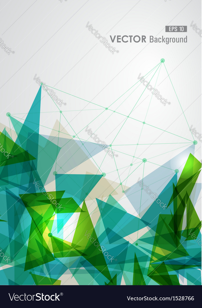 Green and blue network geometric transparency vector