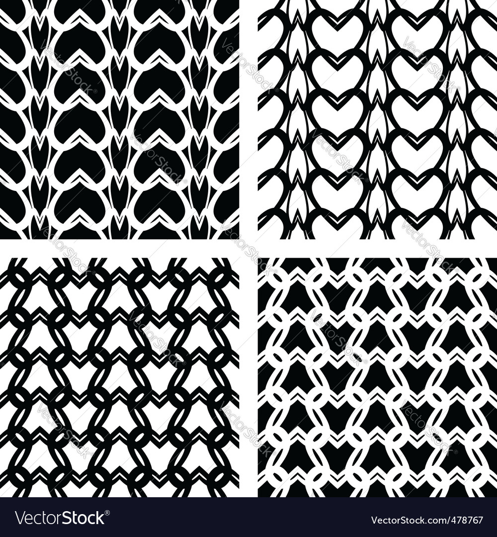 Knitted patterns vector