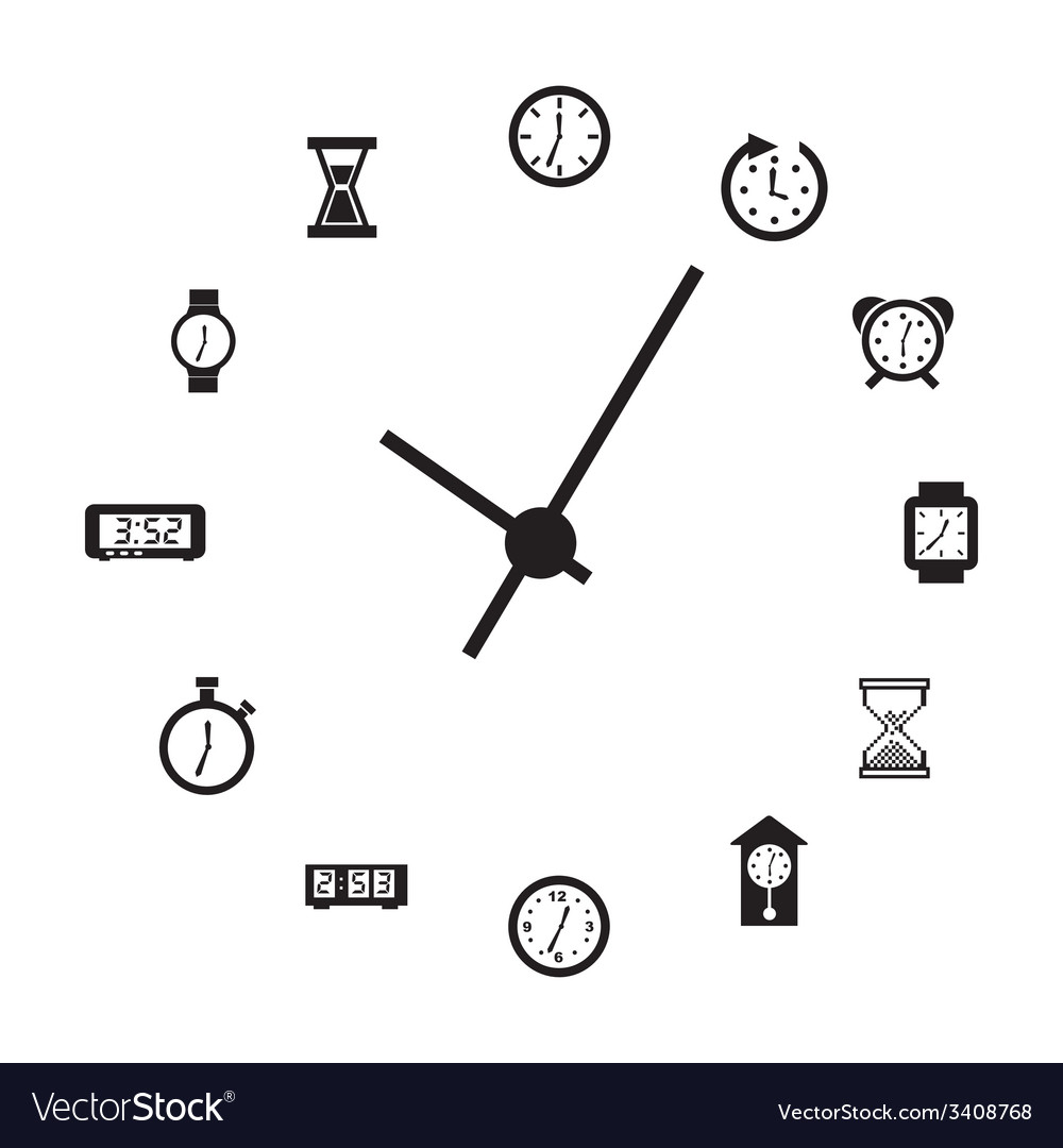 Clock design vector