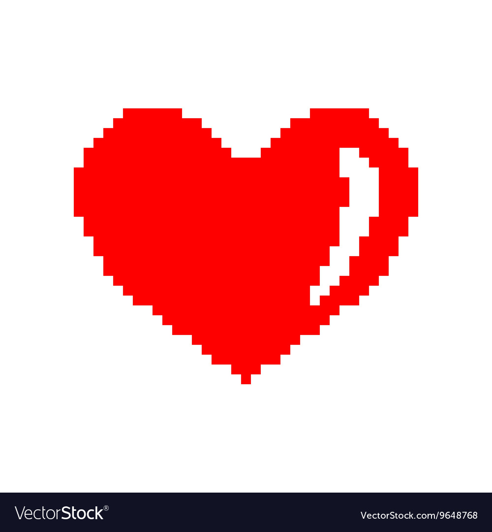 Sign pixel heart 207 vector