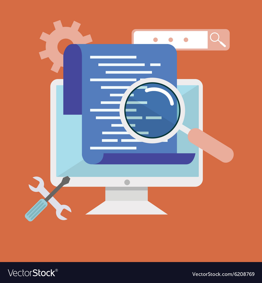 Programming and coding app development and code vector
