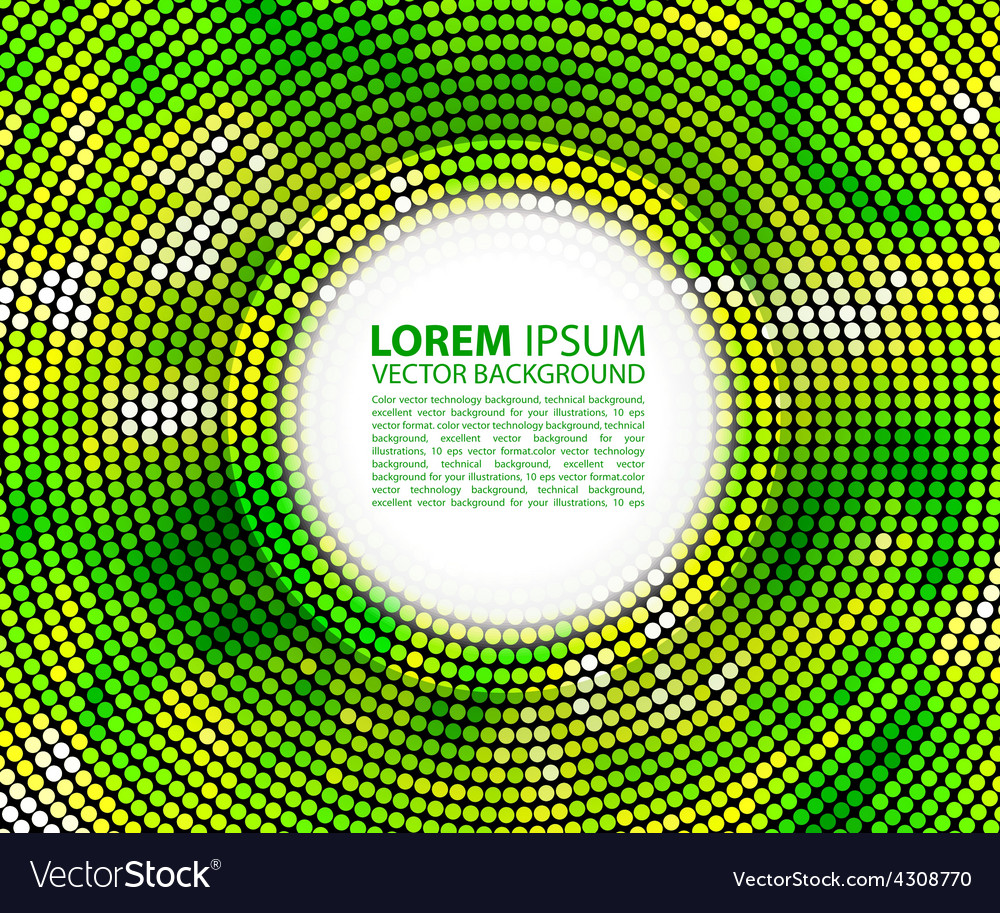 Green abstract banner halftone circle vector