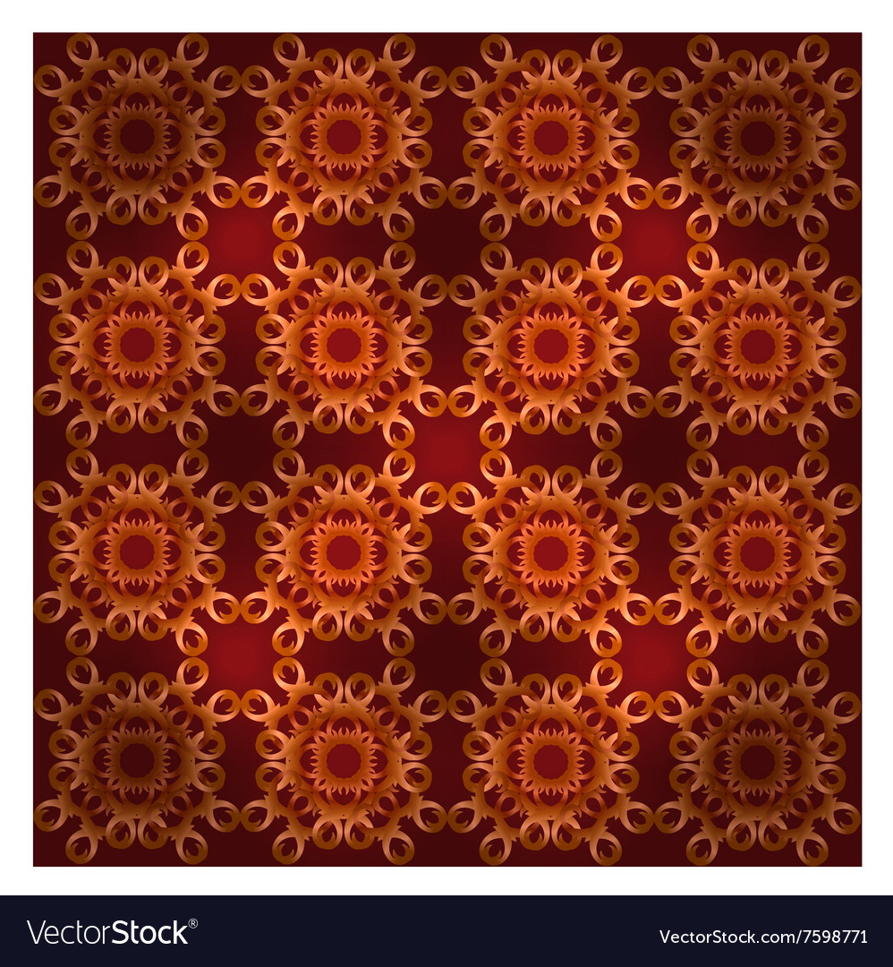Seamless ornament carpet vector