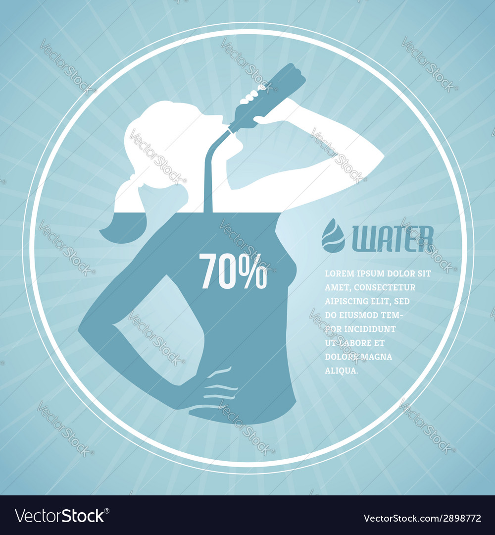 Drinking water 2 vector