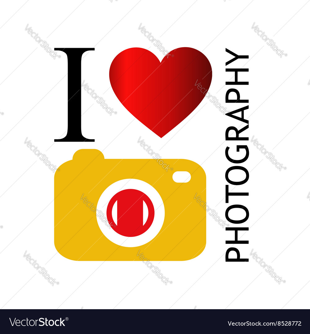 I love photography vector