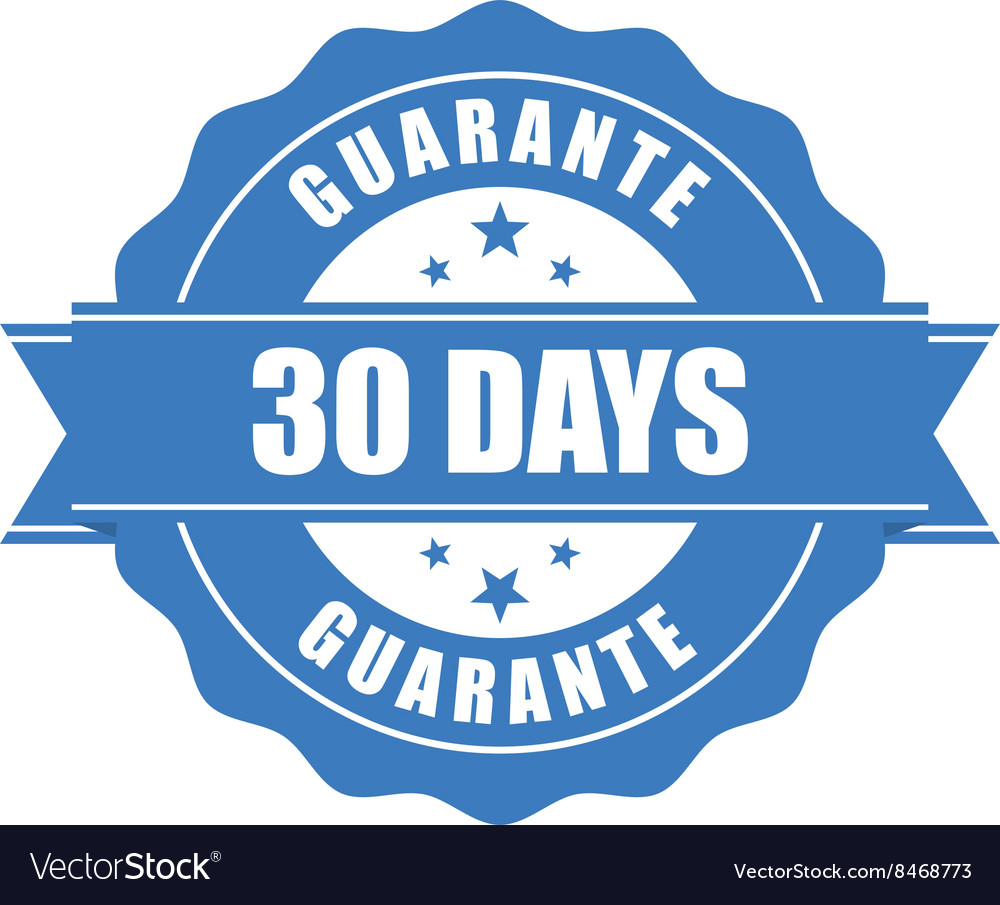30 days guarantee stamp  warranty sign vector