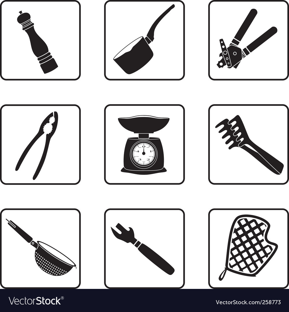 Kitchen supplies vector