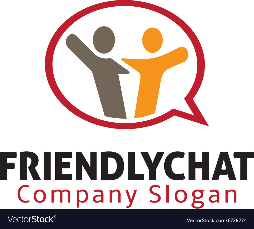 Friendly chat design vector