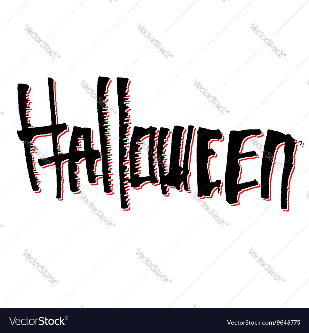 Halloween themed lettering vector
