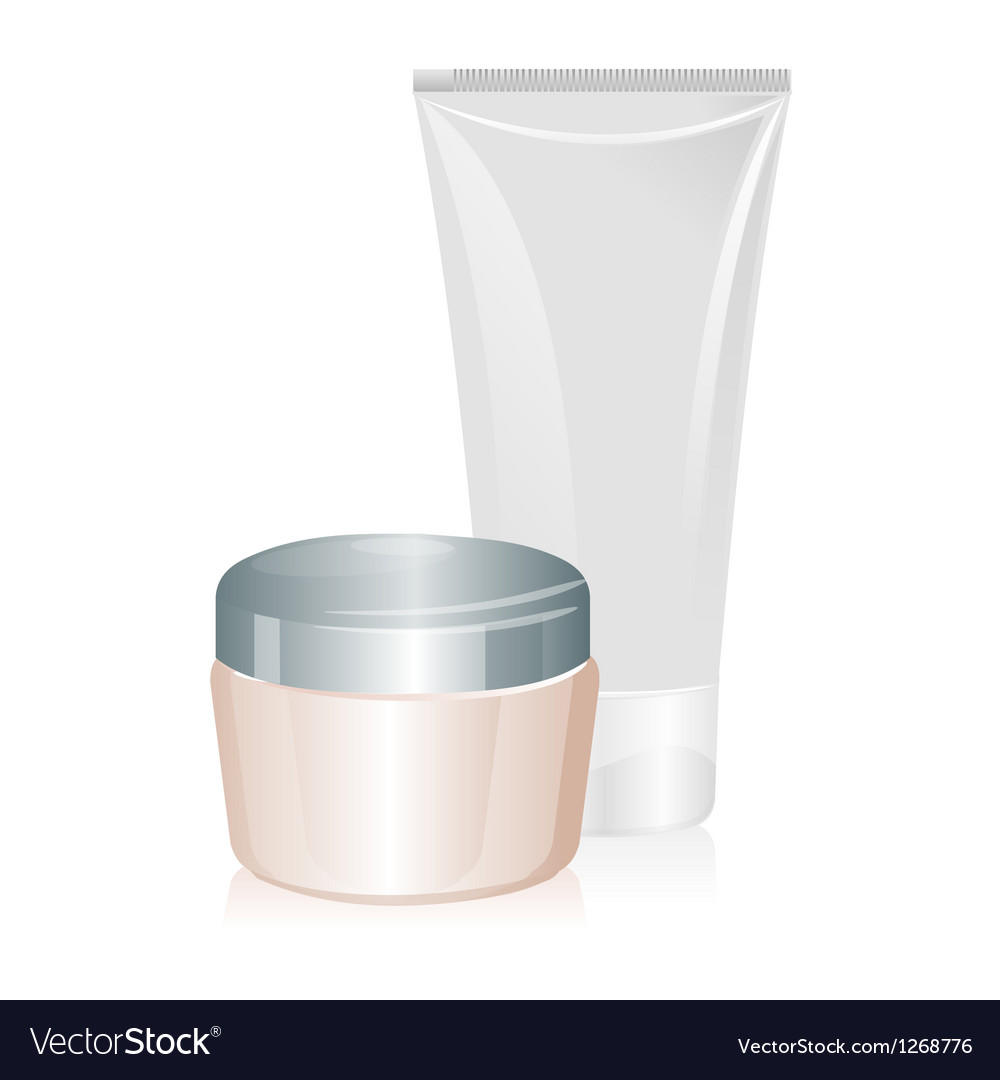 Tube of cream isolated vector