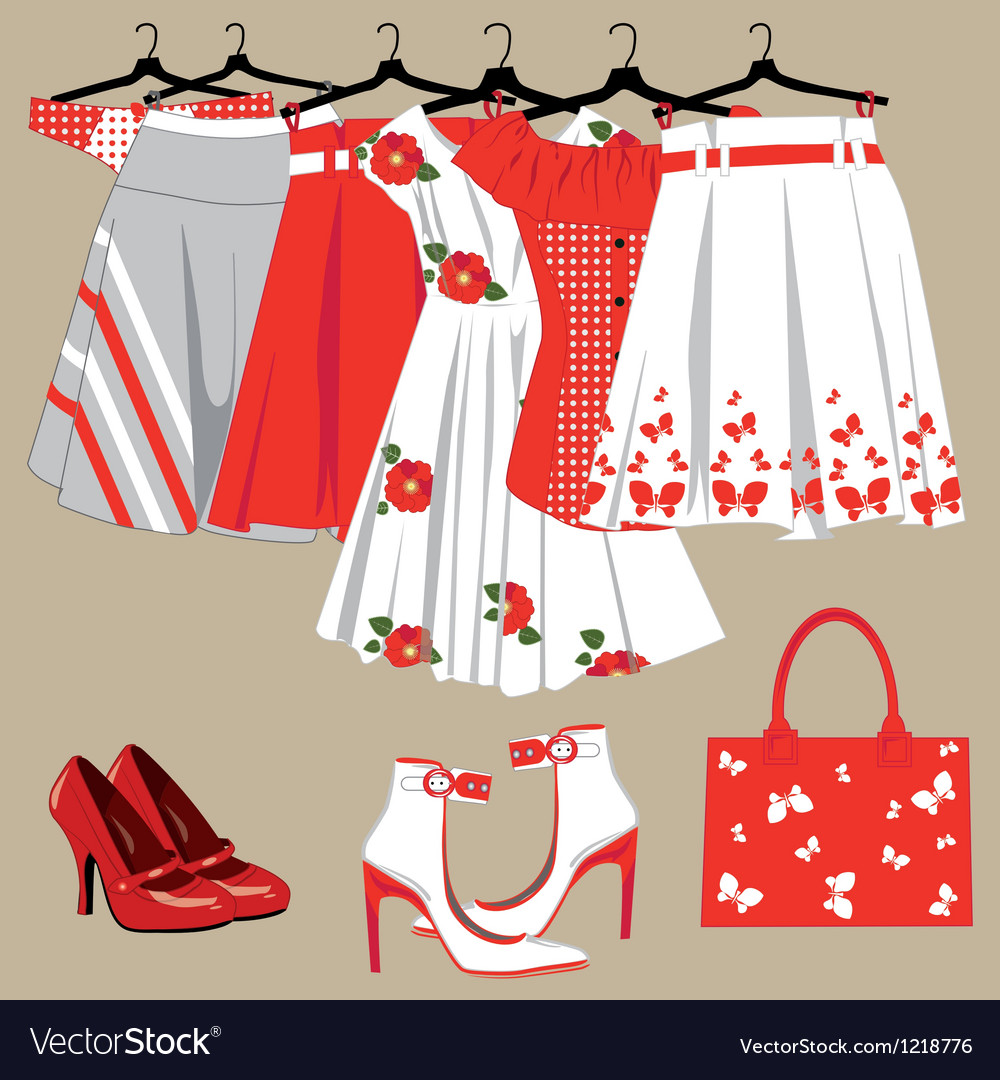 Womens clothing vector