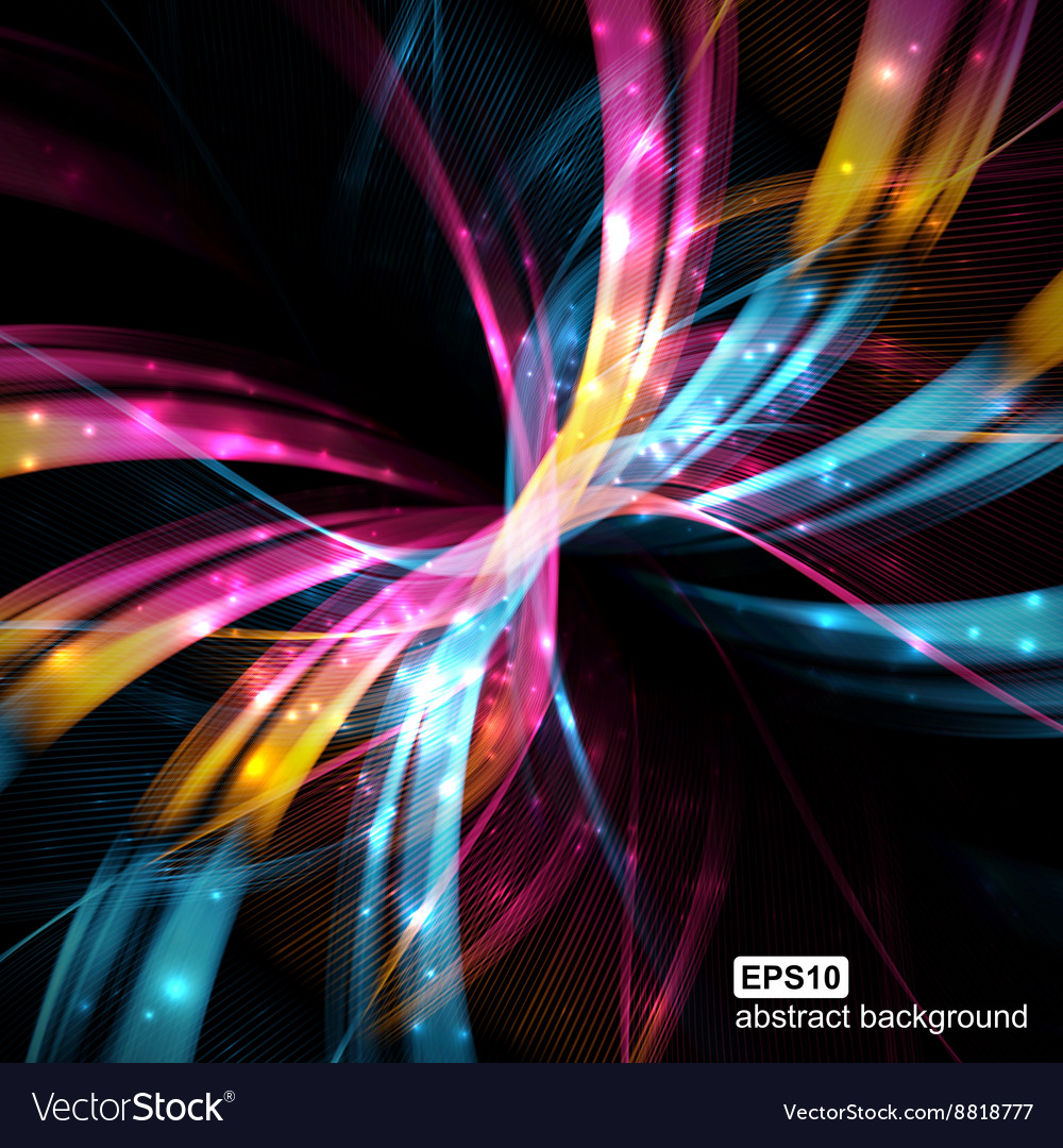 Abstract light wave futuristic background vector