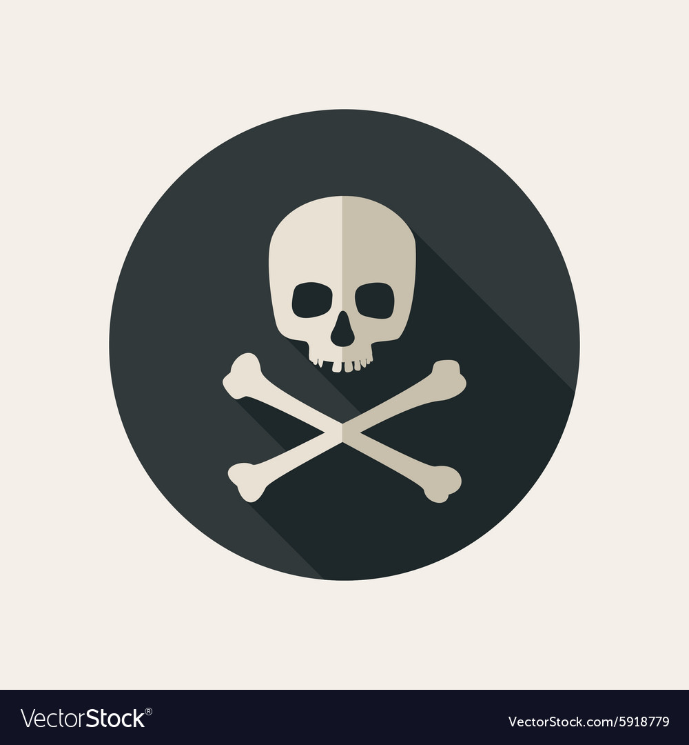 Skull and crossbones icon vector