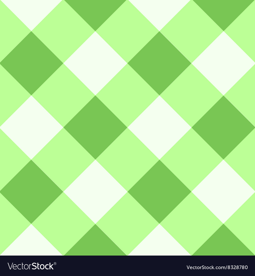 Green flash white diamond chessboard background vector