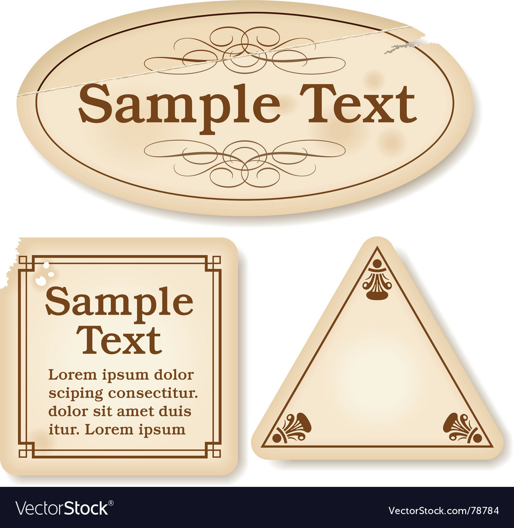 Antique labels vector