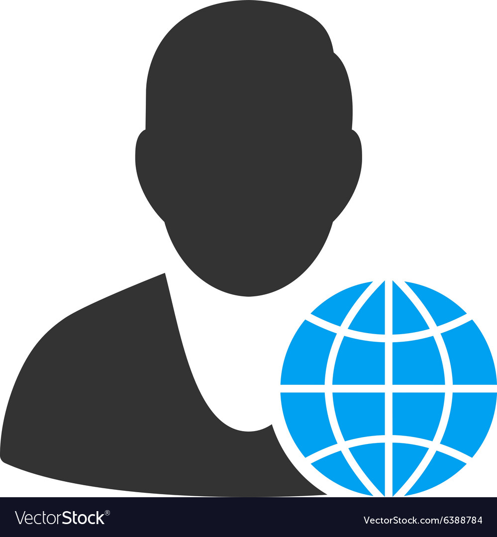 Global manager icon vector
