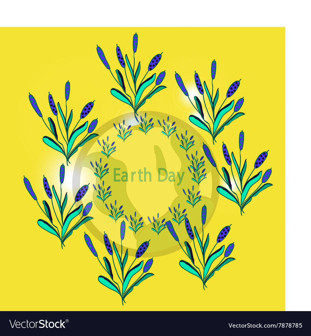 Design banner poster for earth day vector