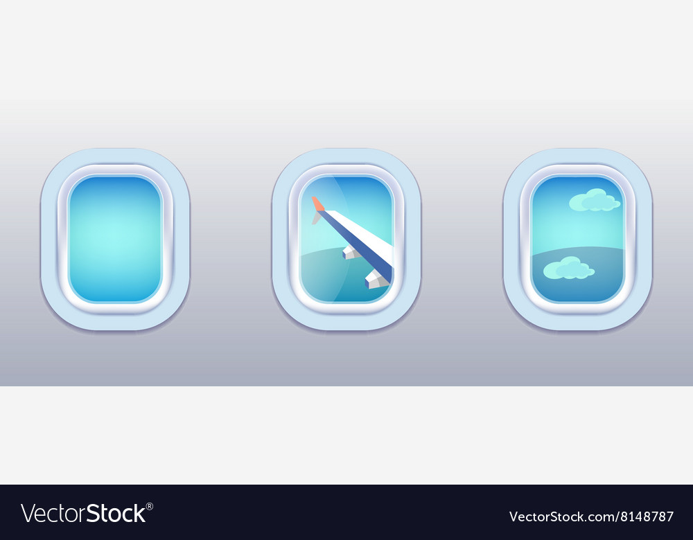 Aircraft windows airplane windows vector