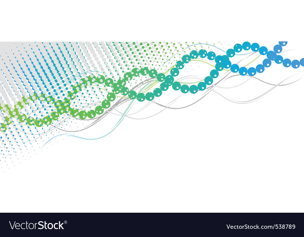 Blue and green spiral background vector