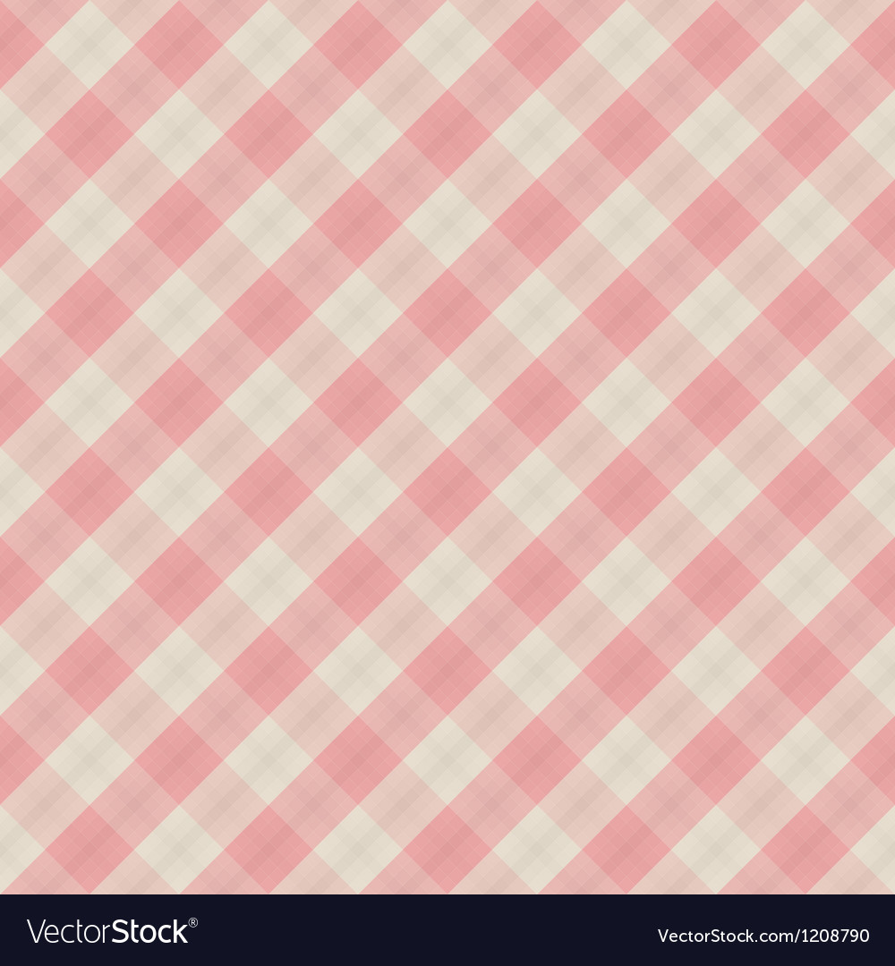 Vintage pink plaid pattern vector
