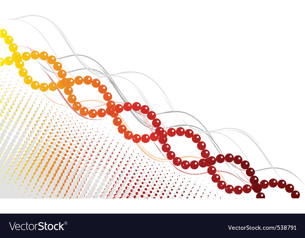 Yellow and red spiral background vector
